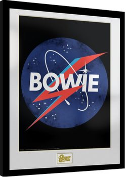 David Bowie - NASA gerahmte Poster