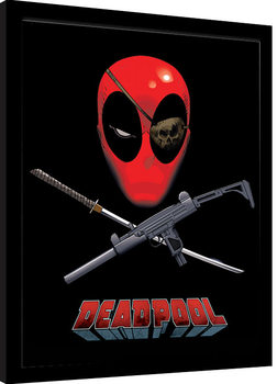 Deadpool - Eye Patch gerahmte Poster