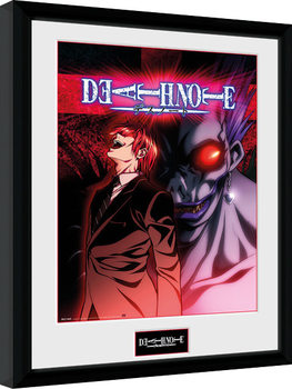 Death Note - Light & Ryuk gerahmte Poster