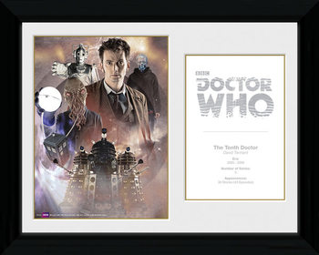 Doctor Who - 10th Doctor David Tennant gerahmte Poster