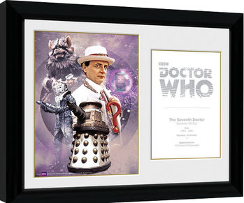 Doctor Who - 7th Doctor Sylvester McCoy gerahmte Poster