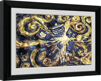Doctor Who - Exploding Tardis gerahmte Poster