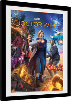 Doctor Who - Group gerahmte Poster