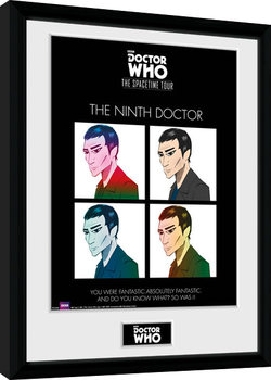 Doctor Who - Spacetime Tour 9th Doctor gerahmte Poster