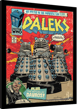 Doctor Who - The Daleks Comic gerahmte Poster