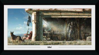 Fallout - Garage gerahmte Poster