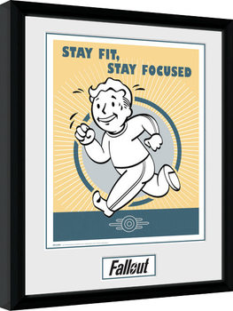 Fallout - Stay Fit gerahmte Poster