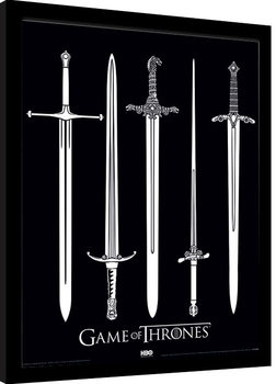 Game Of Thrones - Swords gerahmte Poster