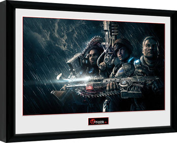 Gears of War 4 - Landscape gerahmte Poster