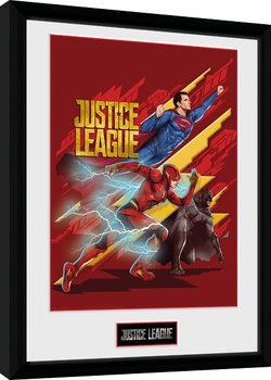 Gerechtigkeitsliga - Trio gerahmte Poster