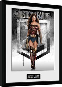 Gerechtigkeitsliga - Wonder Woman gerahmte Poster