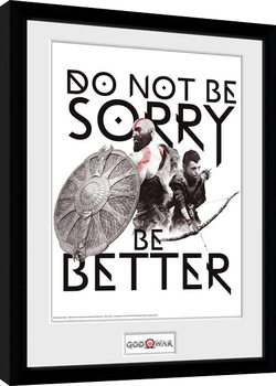 God Of War - Don't Be Sorry gerahmte Poster