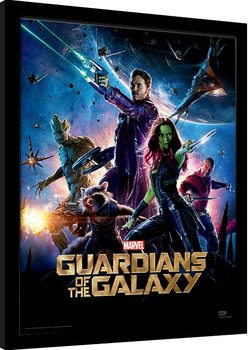 Guardians Of The Galaxy - One Sheet gerahmte Poster