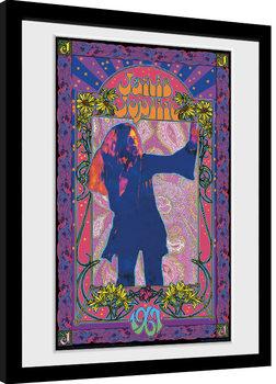 Janis Joplin - Purple Masse gerahmte Poster