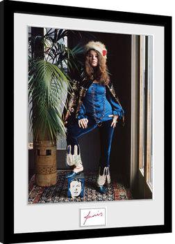 Janis Joplin - Wolman Colour gerahmte Poster