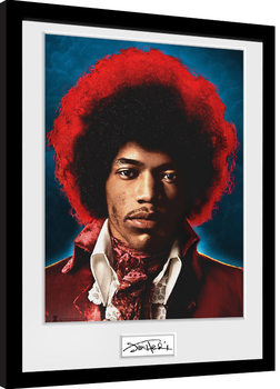 Jimi Hendrix - Sky gerahmte Poster