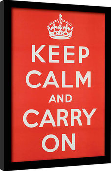 Keep Calm and Carry On gerahmte Poster