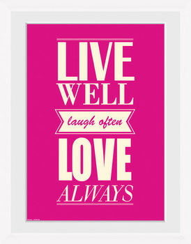 Live - Love gerahmte Poster