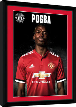 Manchester United - Pogba Stand 17/18 gerahmte Poster