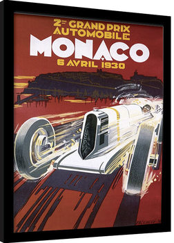 MONACO (1) gerahmte Poster