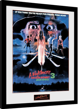 Nightmare On Elm Street -Dream Warriors gerahmte Poster