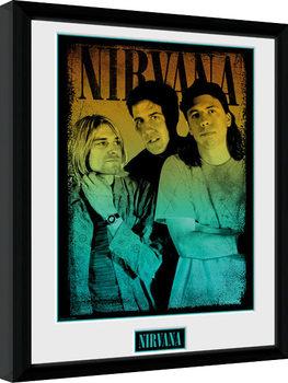 Nirvana - Gradient gerahmte Poster