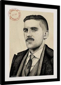 Peaky Blinders - Arthur Portrait gerahmte Poster