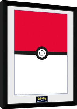 Pokemon - Pokeball gerahmte Poster