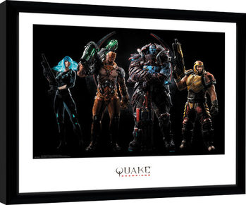 Quake Champions - Group gerahmte Poster