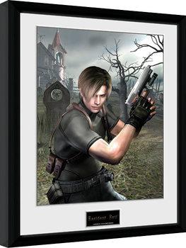 Resident Evil - Leon Graveyard gerahmte Poster