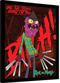 Rick and Morty - Scary Terry gerahmte Poster
