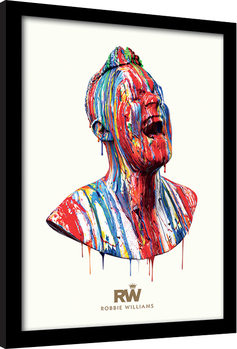 Robbie Williams - Paint Head gerahmte Poster