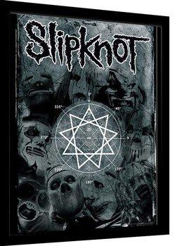 Slipknot - Pentagram gerahmte Poster