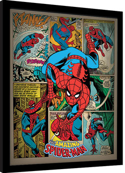 Spider-Man - Retro gerahmte Poster