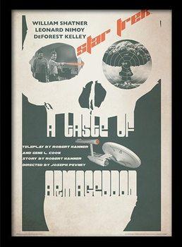 STAR TREK - a taste of armagedon gerahmte Poster