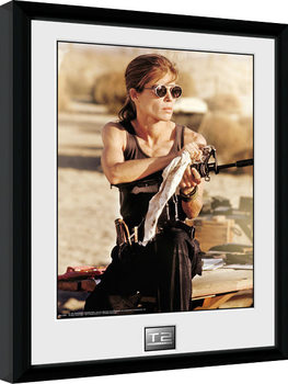 Terminator 2 - Sarah Connor gerahmte Poster