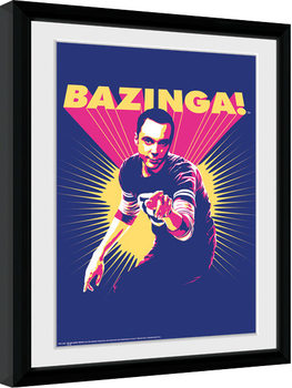The Big Bang Theory - Bazinga gerahmte Poster