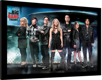 The Big Bang Theory - UFO gerahmte Poster