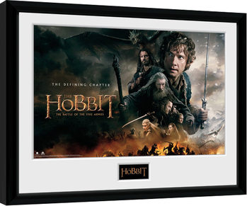 The Hobbit - Battle of Five Armies Defining gerahmte Poster