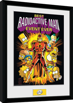 The Simpsons - Radioactive Man gerahmte Poster