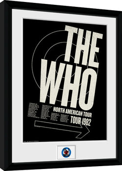 The Who - Tour 82 gerahmte Poster