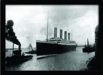 TITANIC (4) gerahmte Poster