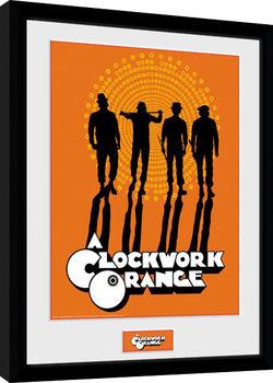 Uhrwerk Orange - Silhouettes gerahmte Poster
