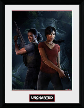 Uncharted: The Lost Legacy - Cover gerahmte Poster