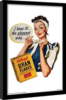 VINTAGE KELLOGGS - i keep fit gerahmte Poster