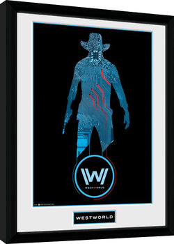 Westworld - Silhouette gerahmte Poster