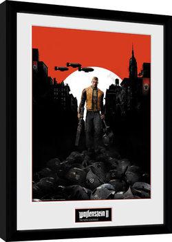 Wolfenstein 2 - Key Art gerahmte Poster
