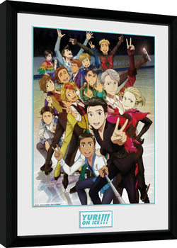 Yuri On Ice - Characters gerahmte Poster