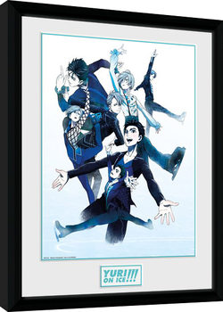 Yuri On Ice - Characters Skate gerahmte Poster