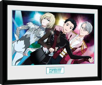 Yuri On Ice - Trio gerahmte Poster